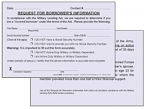 Larger image for MLA - Request for Borrower's Information w/Social