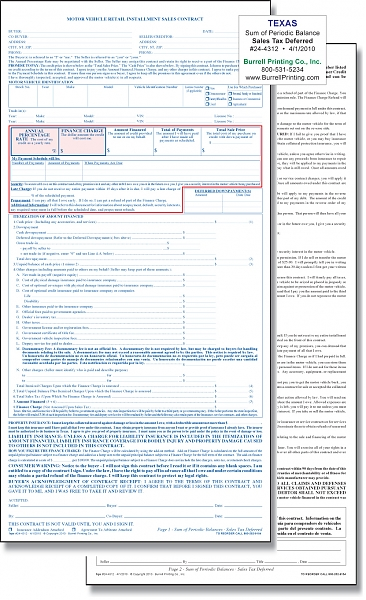 Motor Vehicle Bill Of Sale >> Burrell Printing Company, Inc. - Our Products - Auto ...