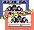 Order Driver's Daily Log Book - Personalized